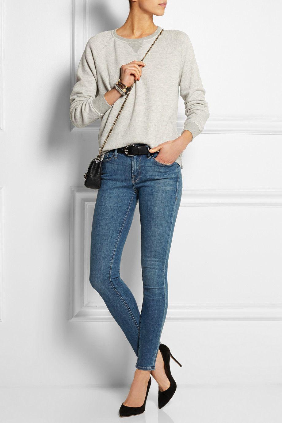 Frame Denim|Le Skinny De Jeanne mid-rise jeans|NET-A-PORTER.COM