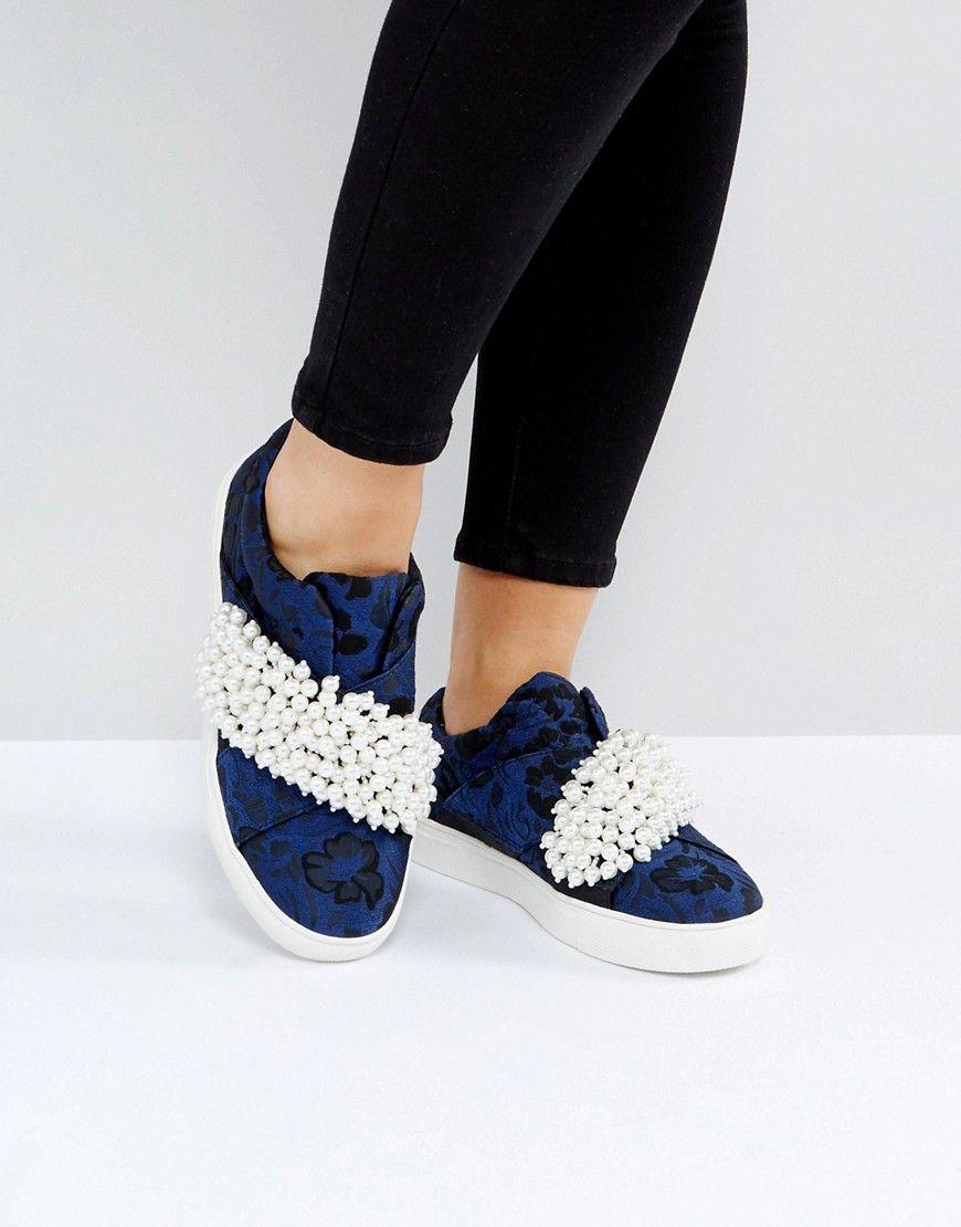 KG by Kurt Geiger Ottis Pearl Printed Sneakers - Blue
