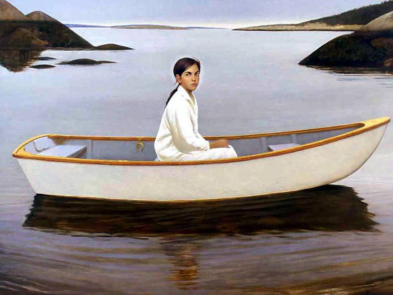 Bo Bartlett I REMEMBER HAVING ALL OF A BAY TO MYSELF, AND ROWING EVERY WHERE WHEN NO WIND TO SAIL....