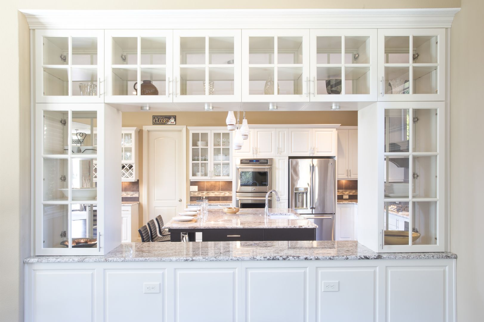 Two Sided Kitchen Cabinets Built In Buffet Kitchen Built Ins White Built Ins