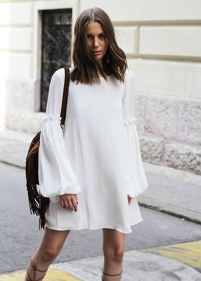 White and romantically chic dress. White and romantically chic dress Long  Sleeve Summer Dresses ... 61564329bac4