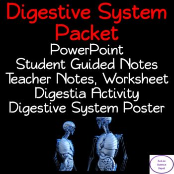 The Human Digestive System Packet includes a PowerPoint ...