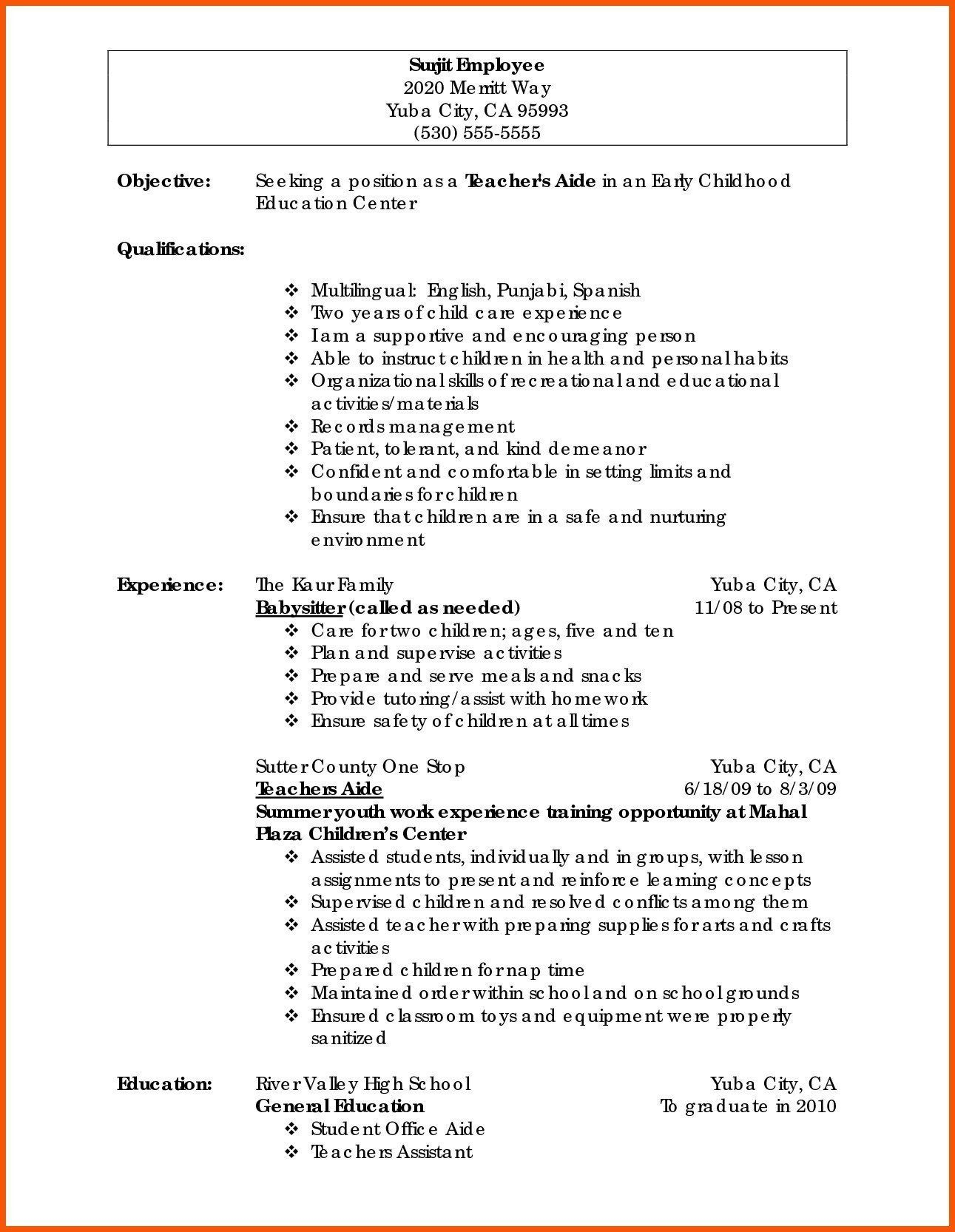 Self Employed Contractor Resume Inspirational Resume for
