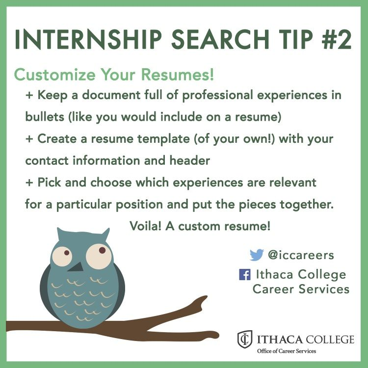 Customize your resume! Internship Search Pinterest Customize - resume for internship