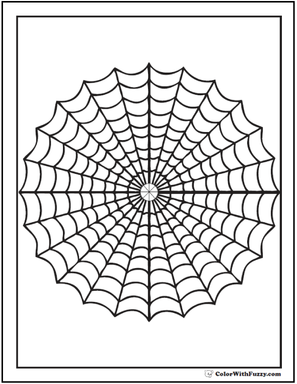 Simple Printable Spider Web Coloring Page From Freshcoloring Cliparts Co Spider Coloring Page Geometric Coloring Pages Spider Net