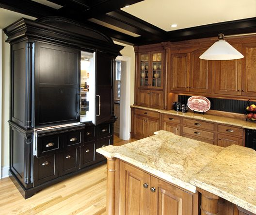 oversized paneled refrigerator looks like furniture kitchen love traditional kitchen. Black Bedroom Furniture Sets. Home Design Ideas