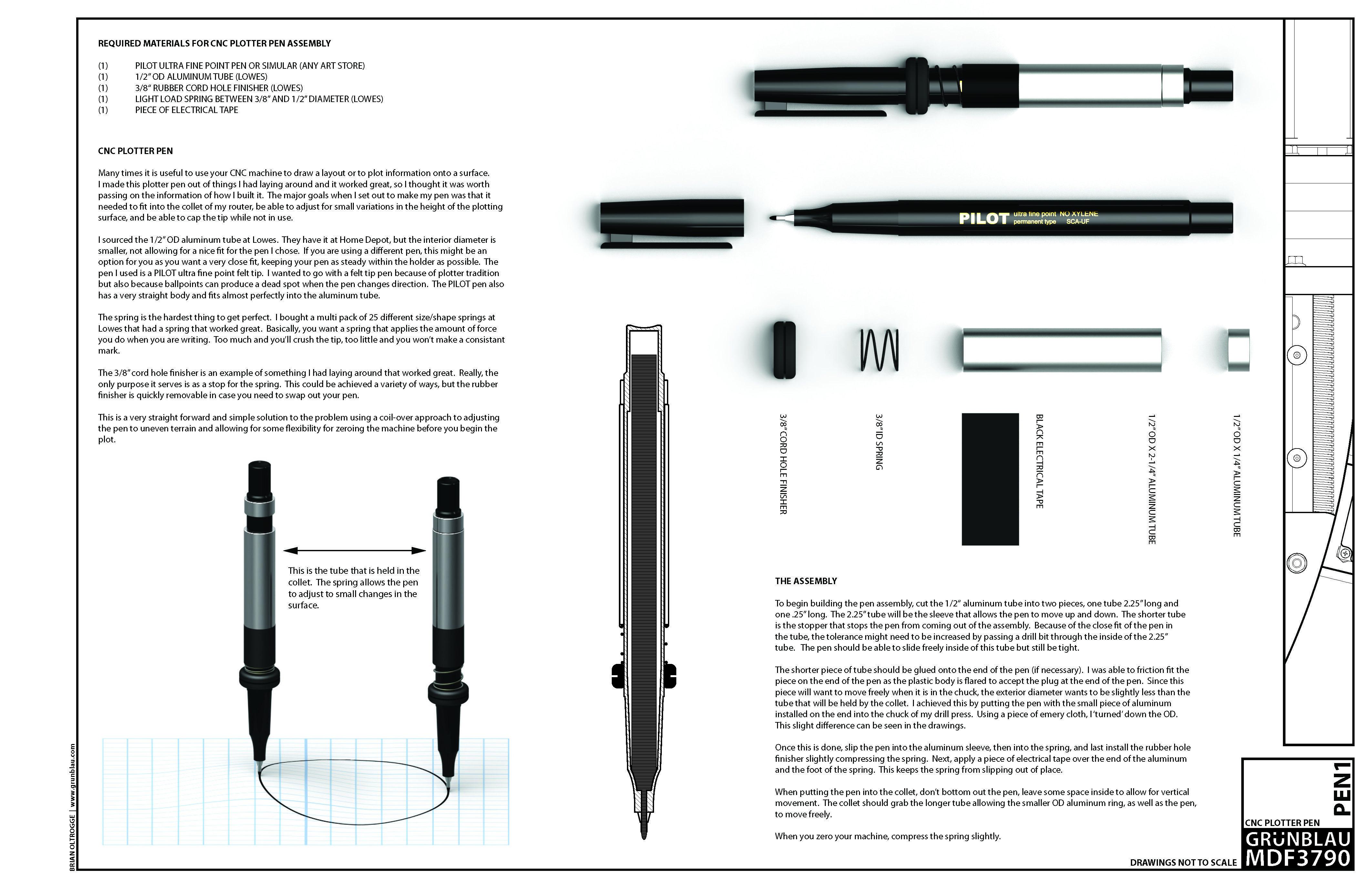 plotter pen holder