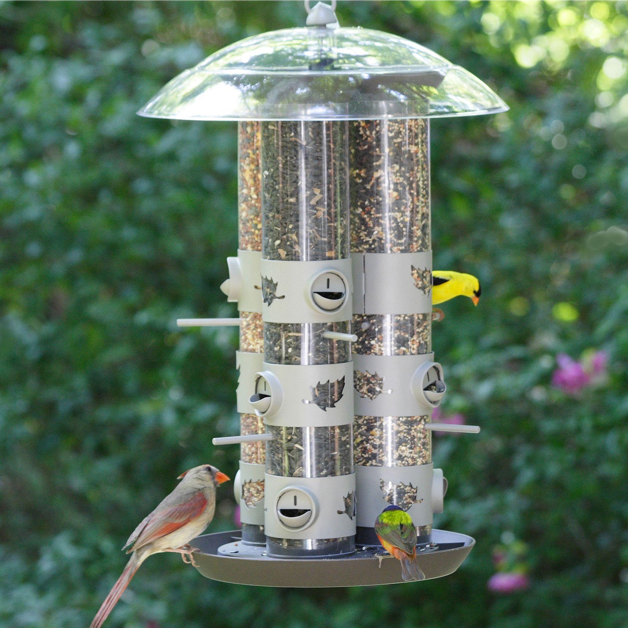 Triple Tube Bird Feeder | Products | Bird feeders, Squirrel