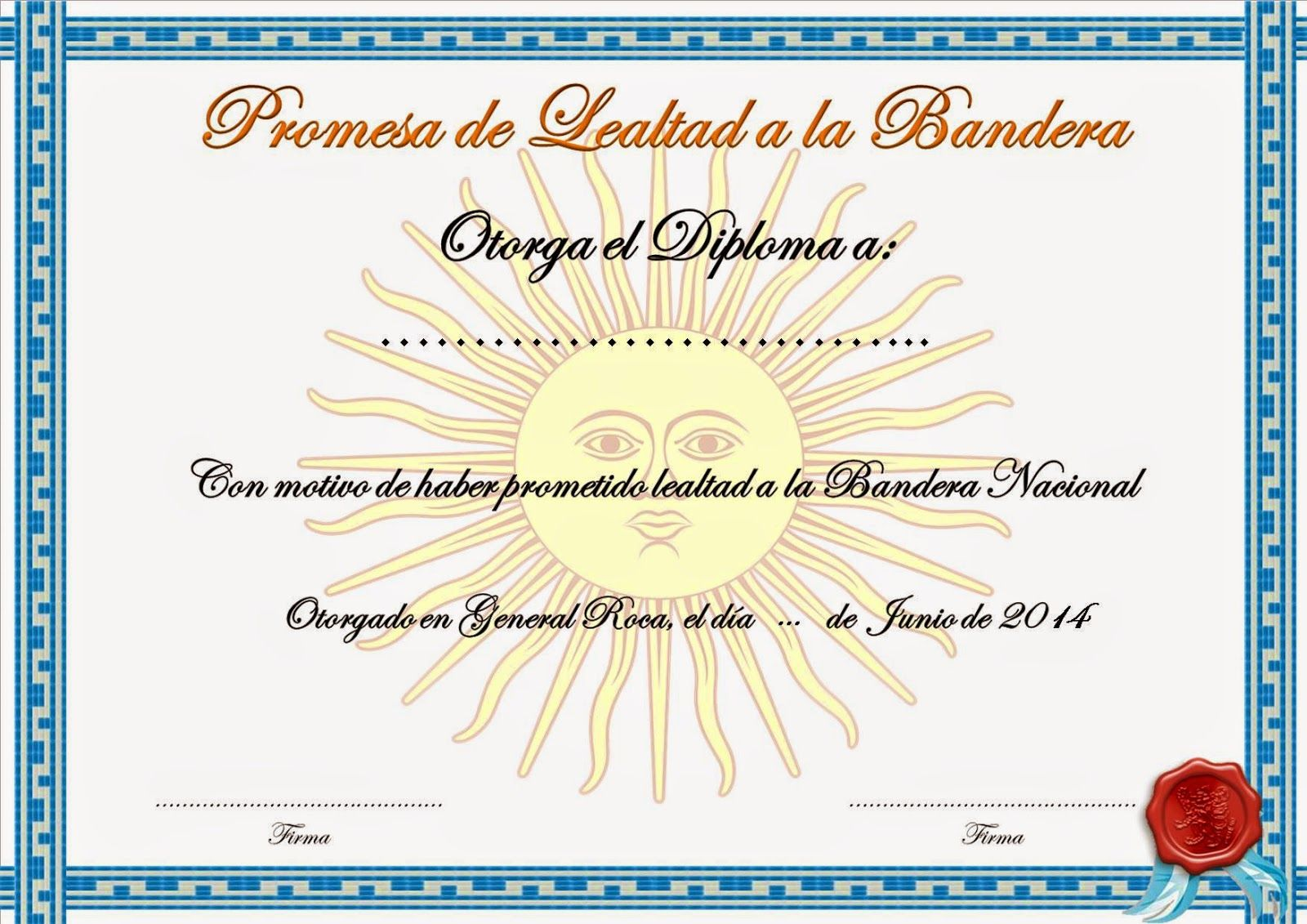 Supervisión de Educación Primaria AVE I: Diploma de Promesa de ...