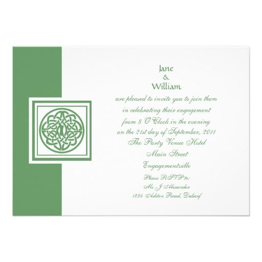 Engagement Invitation Celtic Knot Color Select.... if only it was the wedding invitation