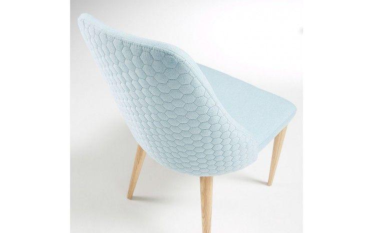 Chaise Scandinave En Tissu Nasus Bleu Ciel Chaise Scandinave Chaise Chaises Scandinaves Tissu