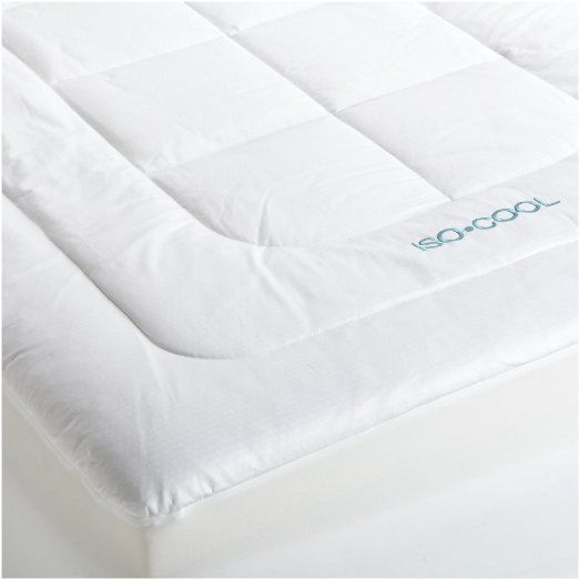 Amazon Com Iso Cool Memory Foam Mattress Pad With Outlast Cover