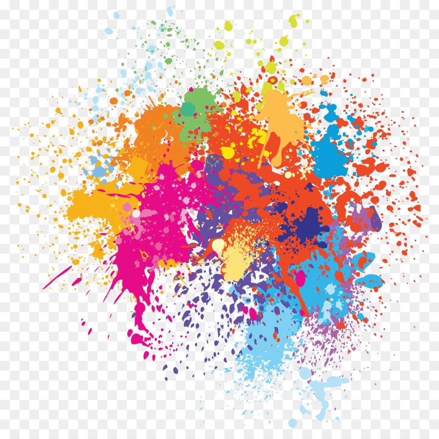 Watercolor Painting Illustration Color Spray Painted
