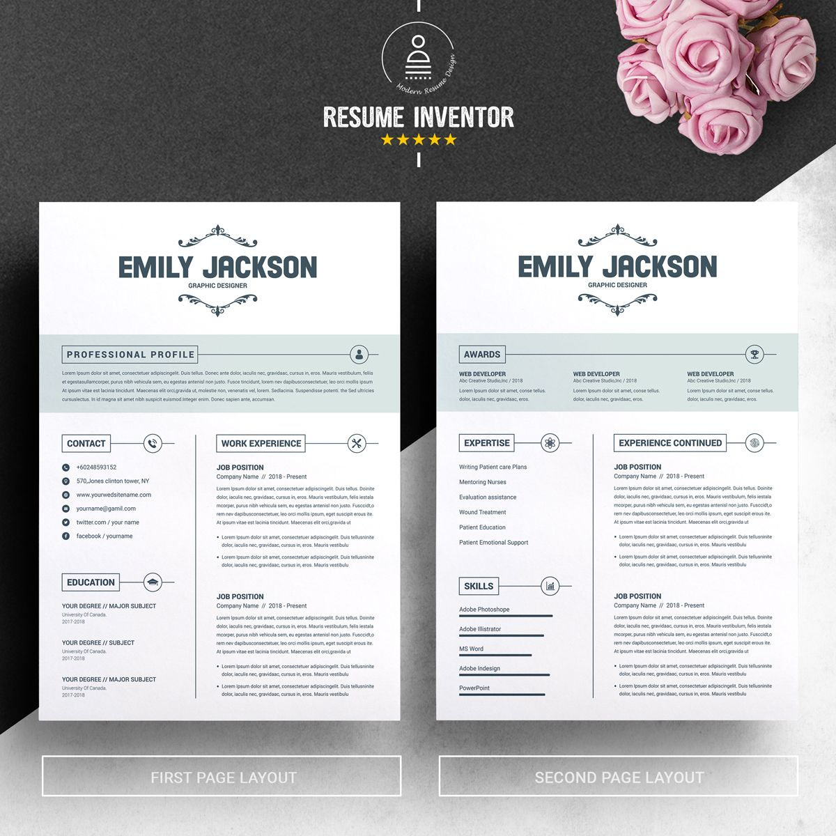 Emily Jackson Resume Template 74376 Word template