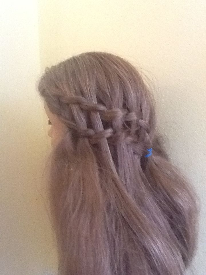 Marie grace double waterfall braid hairstyle