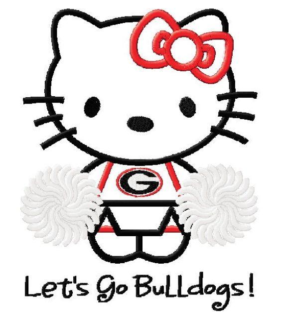 photo of hello kitty georgia cheerleader wonderful machine applique rh pinterest com