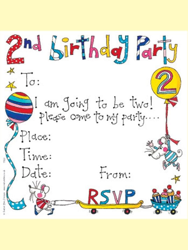 Rachel Ellen invitation card - 2nd birthday | Birthday Party | Pinterest