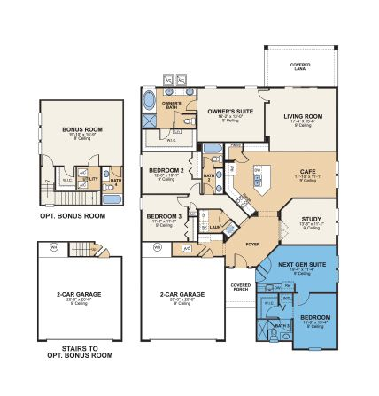 Nextgen Homes Multigenerational House Plans Multigenerational House Floor Plans
