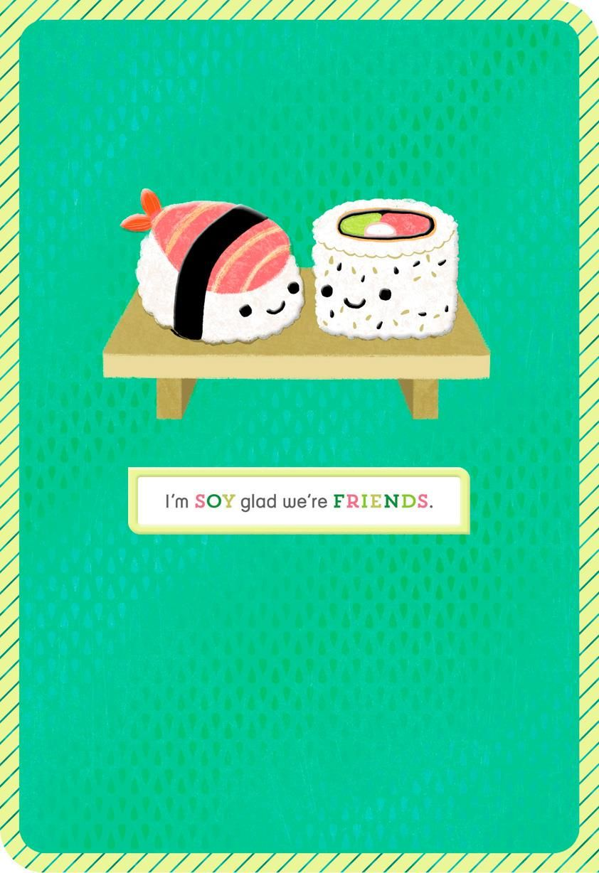 Sushi Pun Funny Blank Friendship Card - Greeting Cards