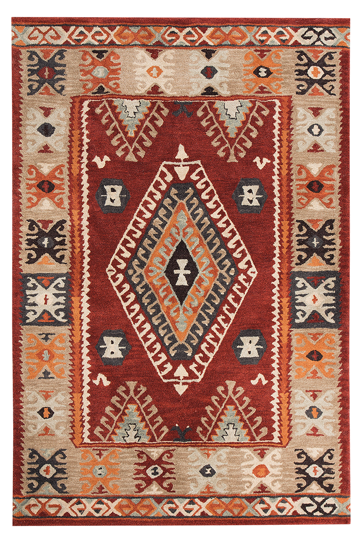 Tribal Chic Making A Bold And Brilliant Statement With Its Bounty Of Rich Earthy Hues Like Oxblood Rust Deep Beige And Black This Area Ru Medium Rugs Rugs