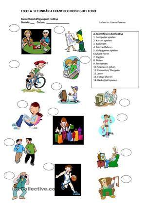 Hobbies   Pinterest   Deutsch and Worksheets