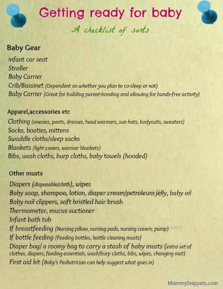 89fb952bb4a9 Getting ready for baby (A checklist of sorts) - Mommy Snippets