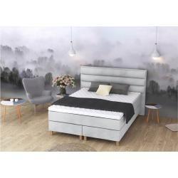Eless Halvön Boxspringbett Silber 140x210 cm H3-H3 #apartmentbedrooms
