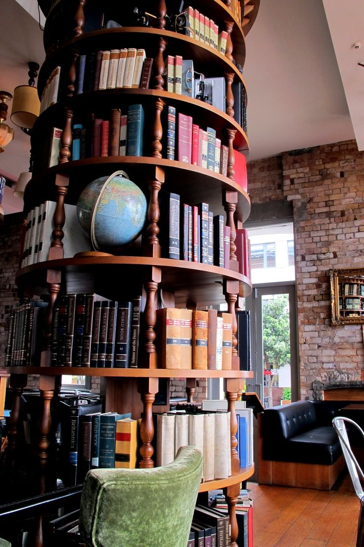 Cafe in Auckland, New Zealand, | Home libraries, Home ...