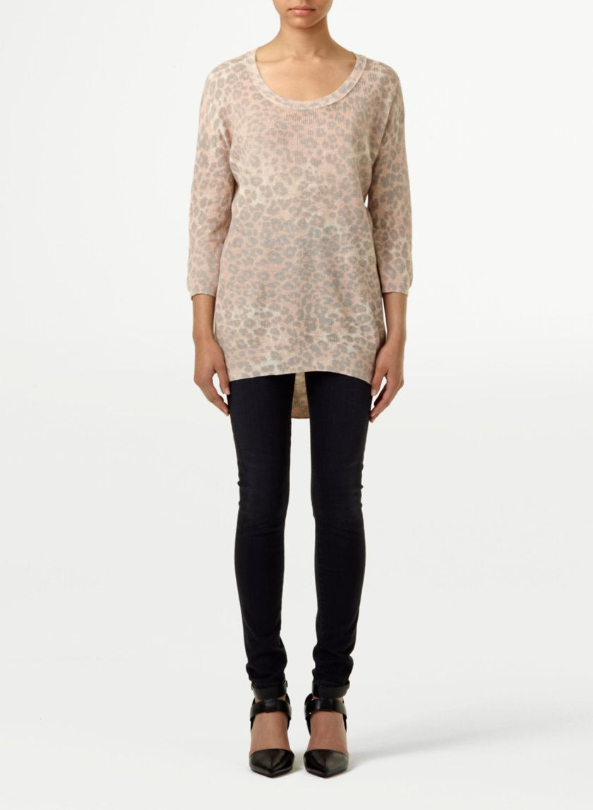 eeefdb78869b9b WILFRED BALZAC SWEATER - A washed-down leopard print on silk, cotton and  cashmere