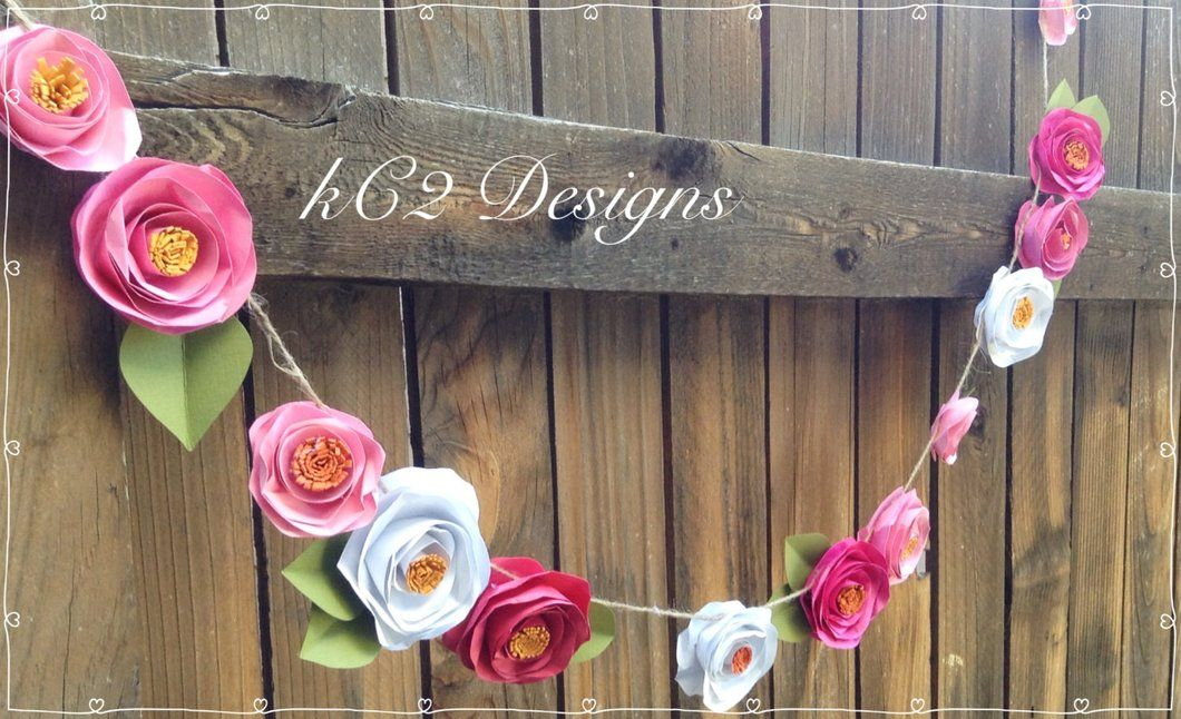 Paper flower garland kate spade inspired blush garland wedding paper flower garland kate spade inspired blush garland wedding garland your colors mightylinksfo Choice Image