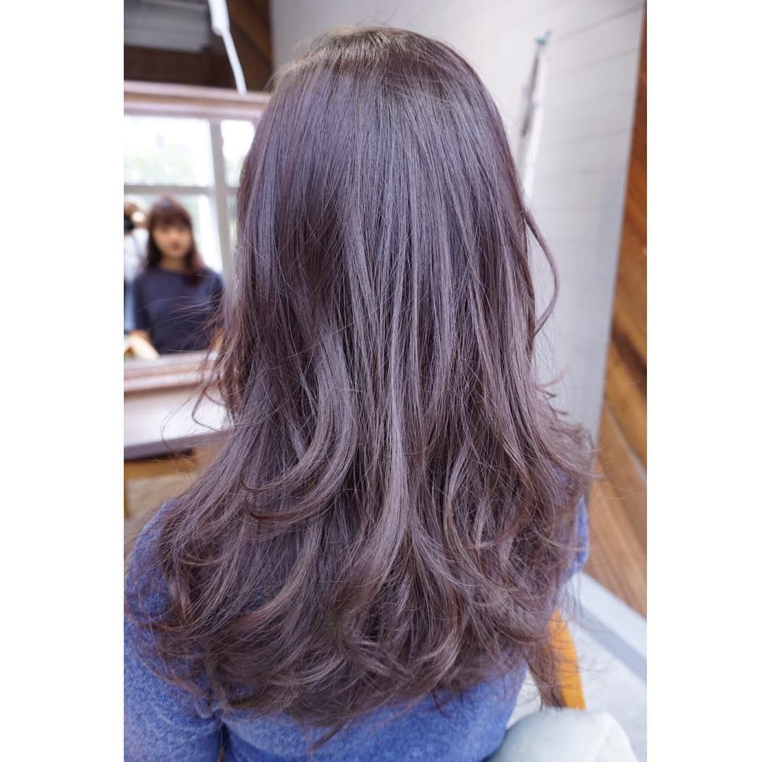 Lavender Ash Brown Prelightening Thank You For Coming Number76 Number76sg Number76singapore Ash Hair Color Ash Brown Hair Color Purple Brown Hair