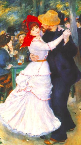 Pierre- Auguste Renoir, Dance at Bougival, 1882- 1883, Oil on canvas, 180 x 90 cm, Museum of Fine Arts, Boston