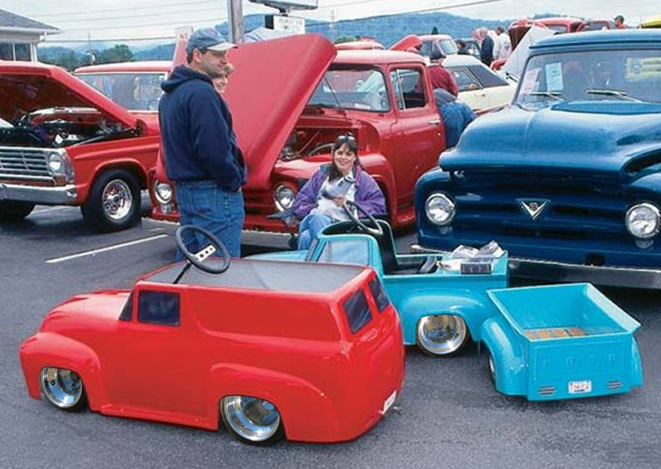 1956 Ford F100 Panel Go Kart The Material Which I Can Produce Is Suitable For Different Flat Objects E G Cogs C Pedal Cars Vintage Pedal Cars Toy Pedal Cars