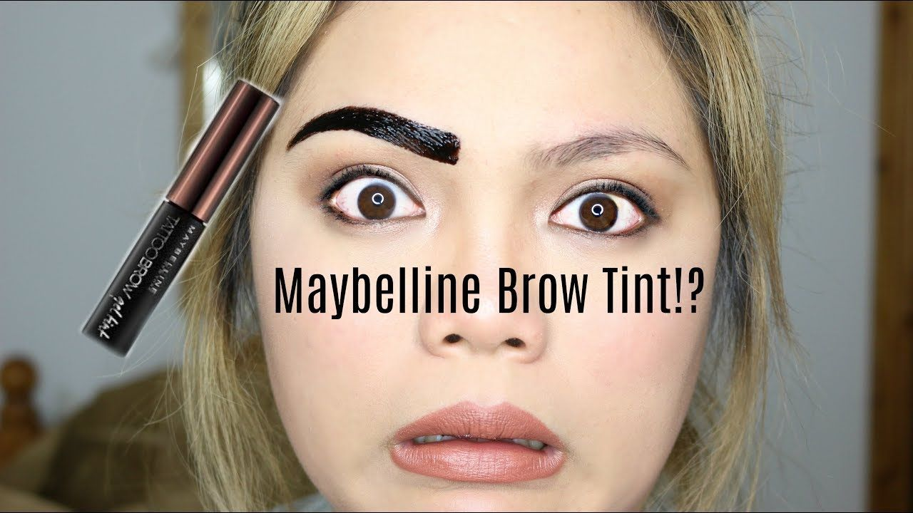 Maybelline Peel Off Brow Tint First Impression Review