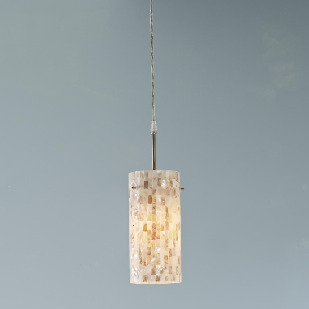 Mother of Pearl Mosaic Cylinder Pendant