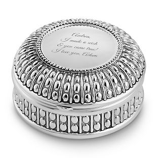 Personalized Antique Round Keepsake Box , Add Your Message