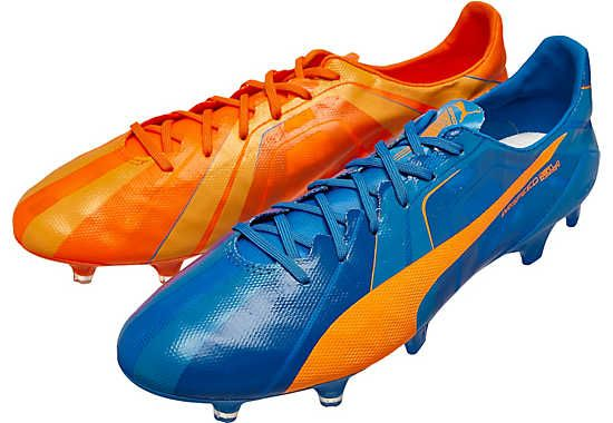 Pasado infierno Senado  Shop at www.soccerpro.com now! Puma evoSPEED SL FG - Tricks - Electric Blue  Lemonade & Orange Clown Fish | プーマ