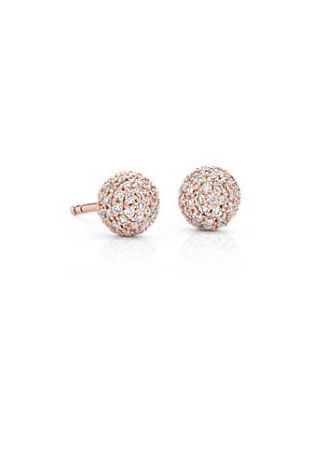 Blue Nile Lucille Diamond Pave Stud Earring in 14k Yellow Gold (3/8 ct. tw.) p2kae