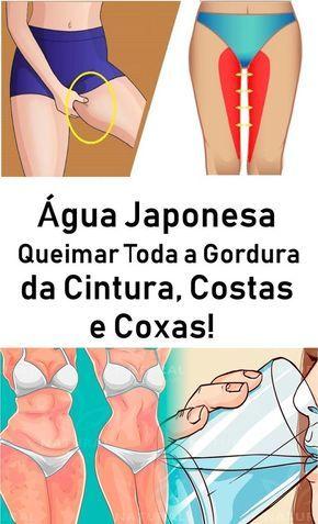Agua Japonesa Queimar Toda A Gordura Da Cintura Costas E Coxas