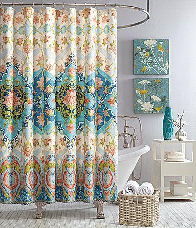 Jessica Simpson Aquarius Floral Medallion Shower Curtain Dillards