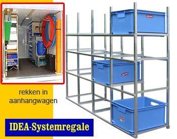 Rekken in aanhangwagen 750 kg van idea regale inrichten for Garage ad civray