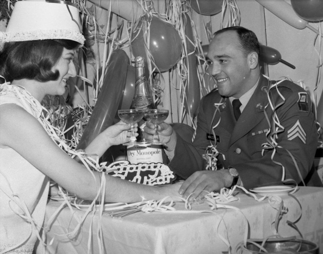 Vietnam vet enjoys a New Year's Eve date, 1966 (With