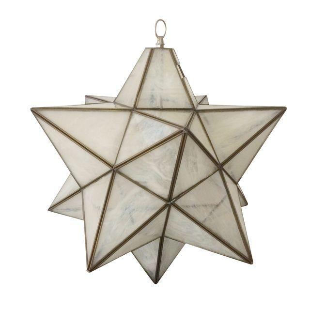 Image Of Vintage Moravian Star Restored Pendant Plug In Hanging