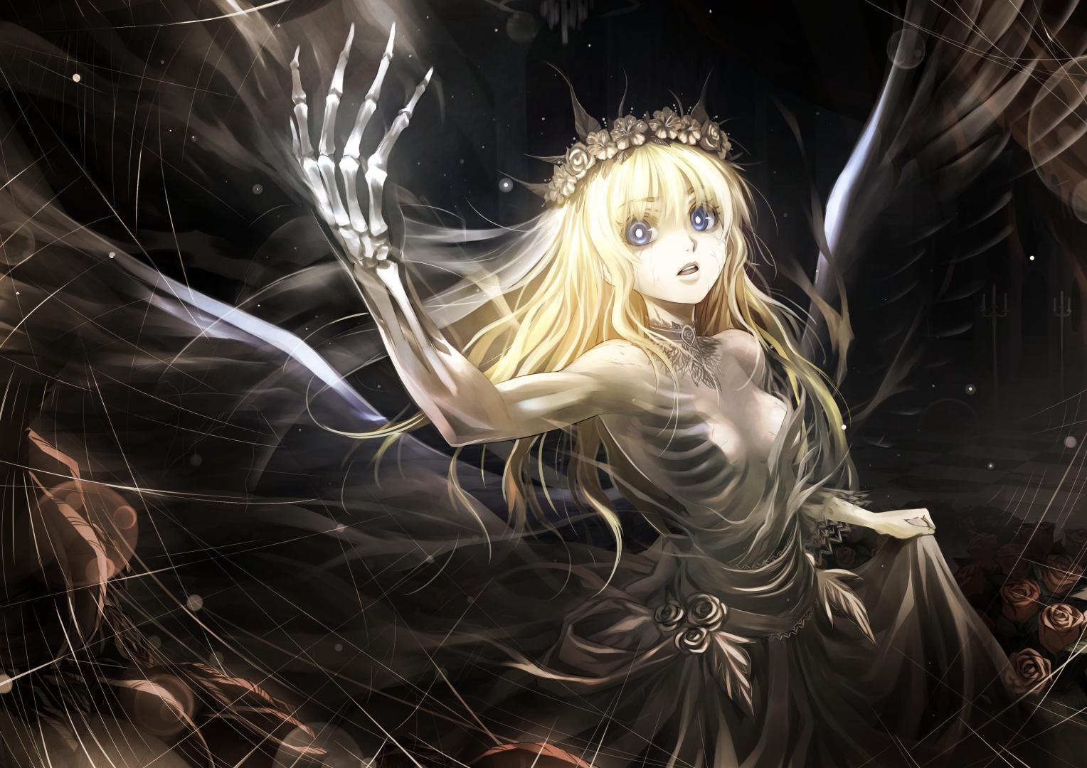 Haunting anime angel ghost girl by kriss chucks anime shrine