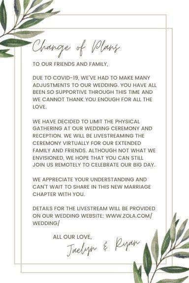 Wedding Un-Invitation