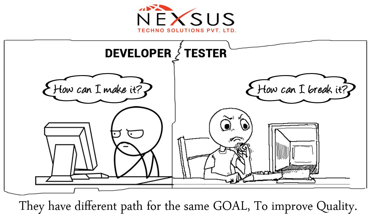 #Developer Vs #Tester They have different path for