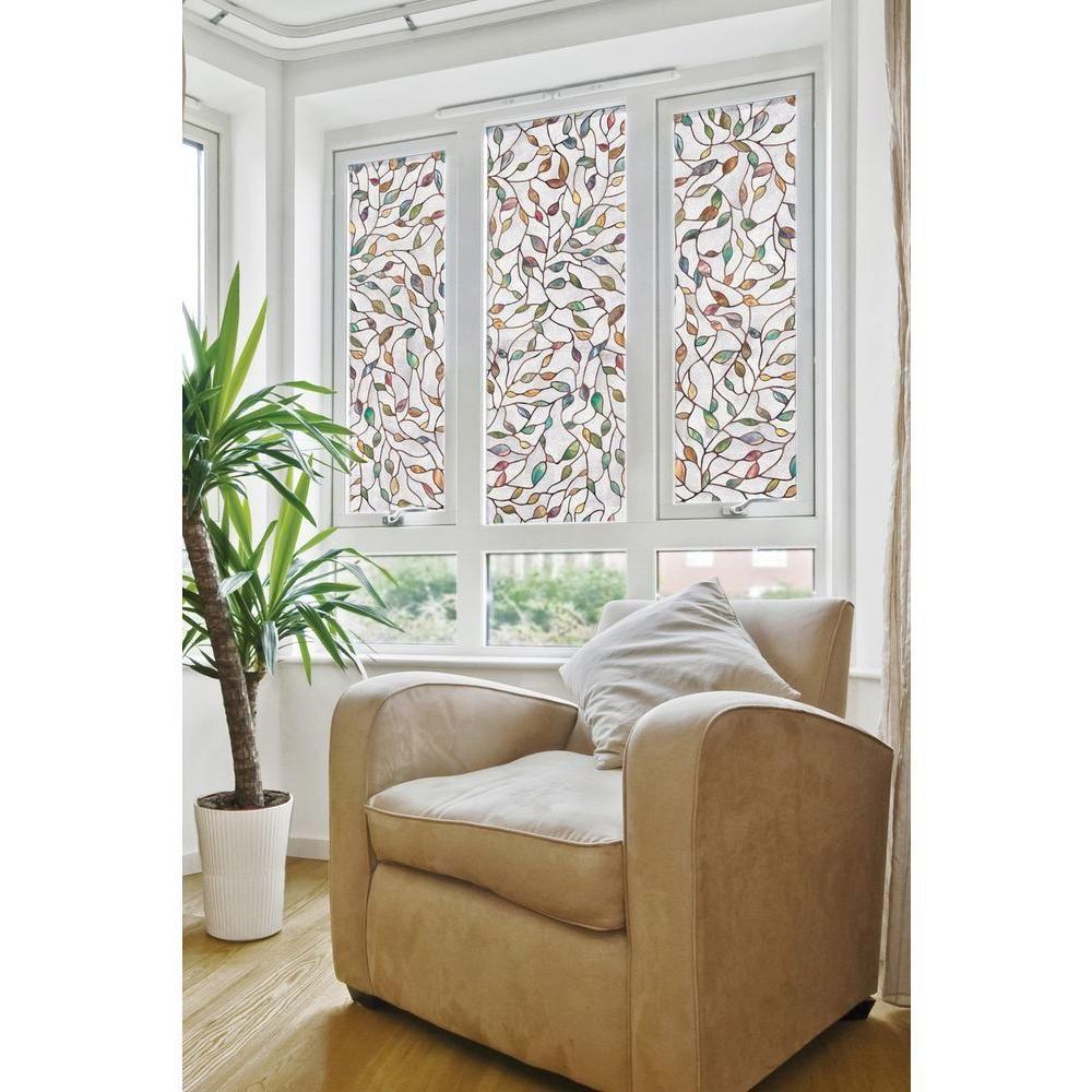 Decorative Windows For Homes: Artscape 24 In. X 36 In. New Leaf Decorative Window Film