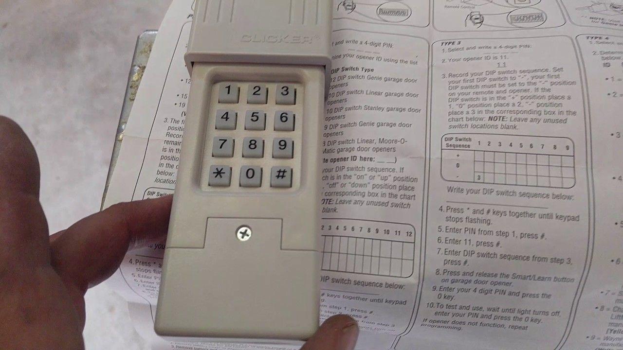 Garage Door Opener How To Program A Wireless Chamberlain