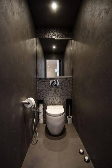 Déco Toilettes Grise - Peinture et déco WC avec du gris | Toilet