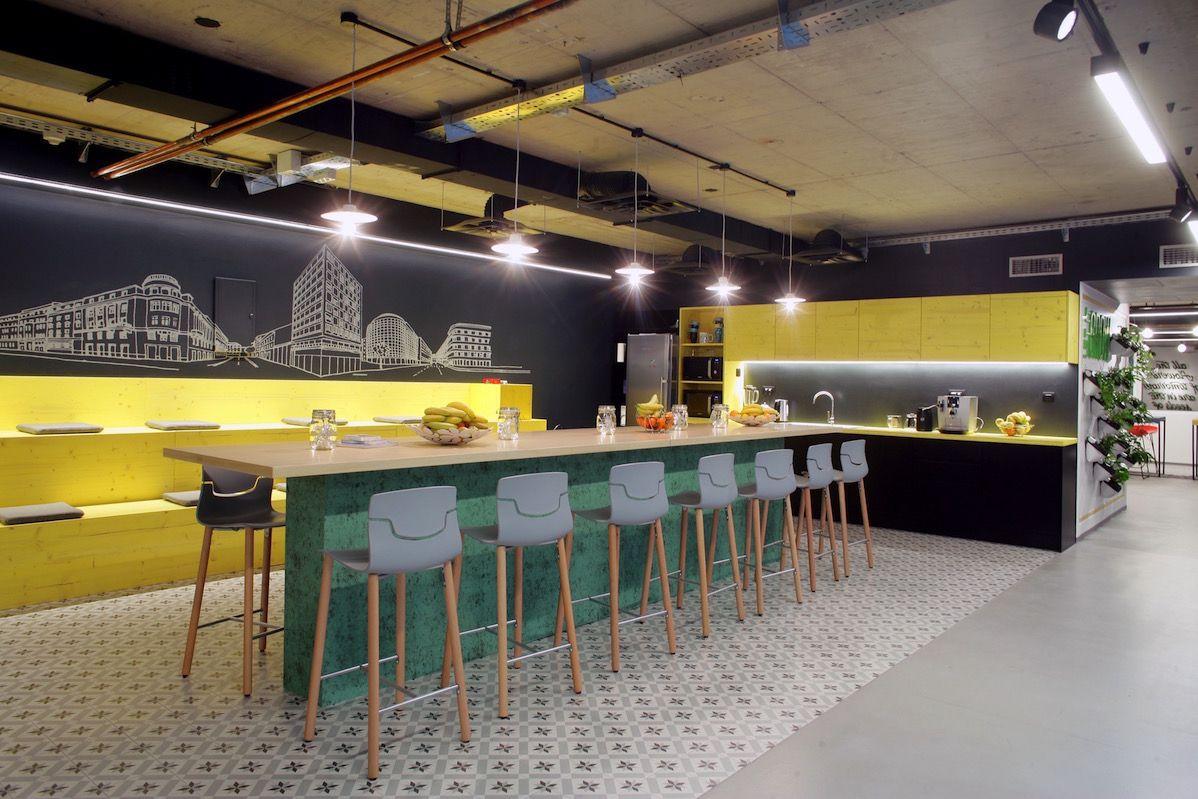 Inside Booking Com S Sleek Zagreb Office Office Design Office Pantry Hotels Design